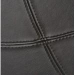 BOULE Sillón moderno de corte minimalista giratorias pies ajustables (negro)