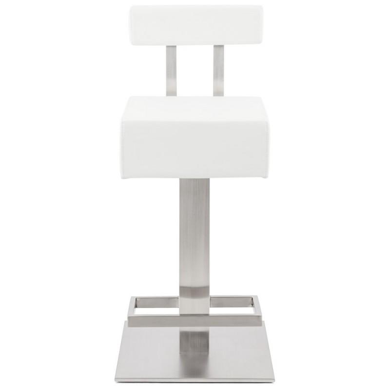 Tabouret design carré rotatif mi-hauteur ESCAULT MINI (blanc) - image 16046