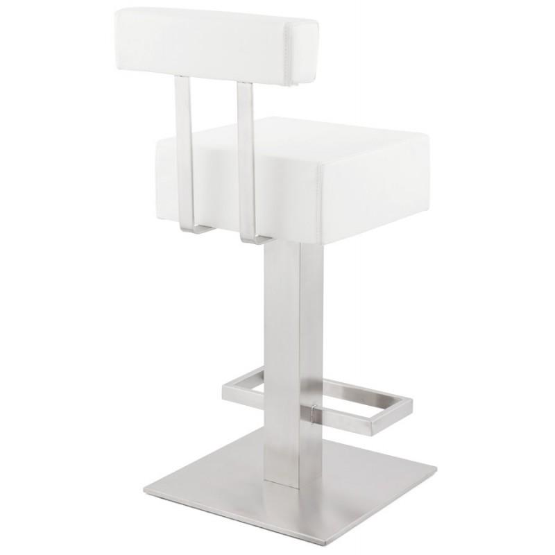 Tabouret design carré rotatif mi-hauteur ESCAULT MINI (blanc) - image 16048