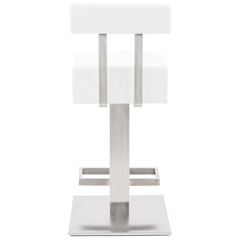 Tabouret design carré rotatif mi-hauteur ESCAULT MINI (blanc) - image 16049