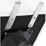 Taburete giratorio diseño cuadrado ESCAULT MINI (blanco)