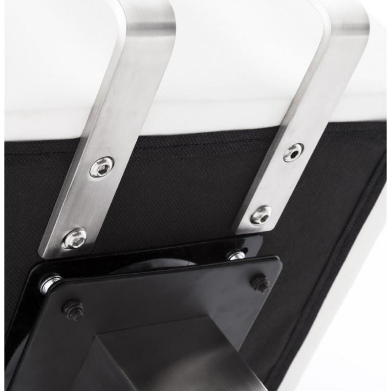 Tabouret design carré rotatif mi-hauteur ESCAULT MINI (blanc) - image 16052