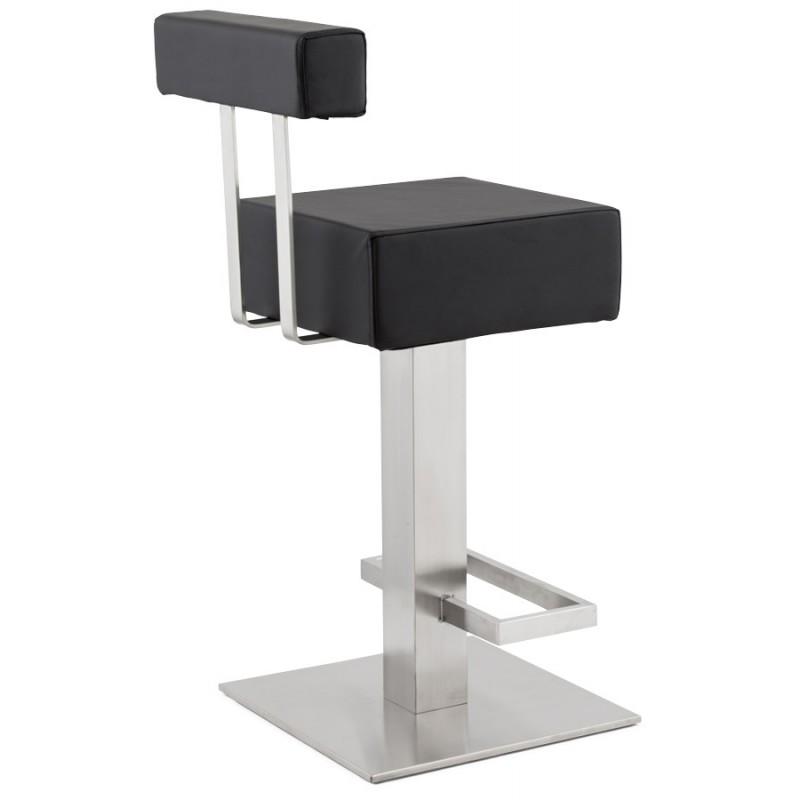 tabouret design carr rotatif mi hauteur escault mini noir. Black Bedroom Furniture Sets. Home Design Ideas