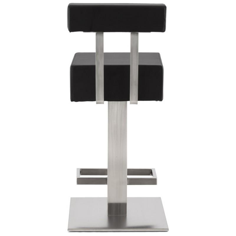 Tabouret design carré rotatif mi-hauteur ESCAULT MINI (noir) - image 16061