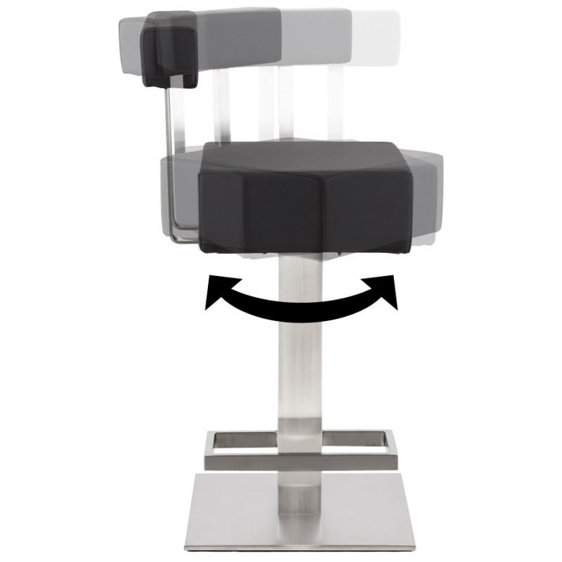 Tabouret design carré rotatif mi-hauteur ESCAULT MINI (noir) - image 16062