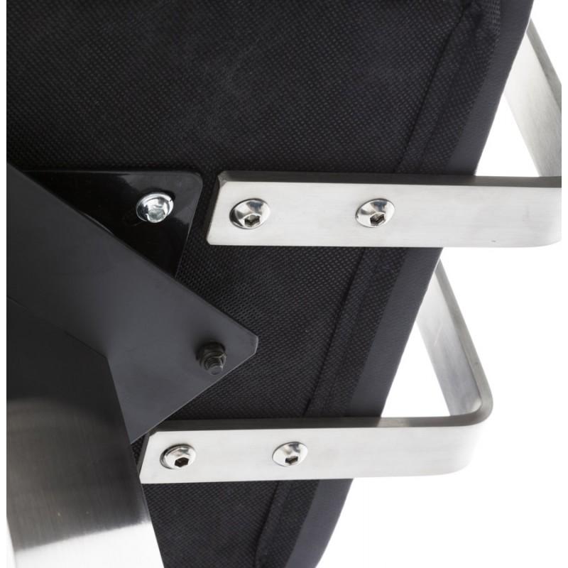Tabouret design carré rotatif mi-hauteur ESCAULT MINI (noir) - image 16064