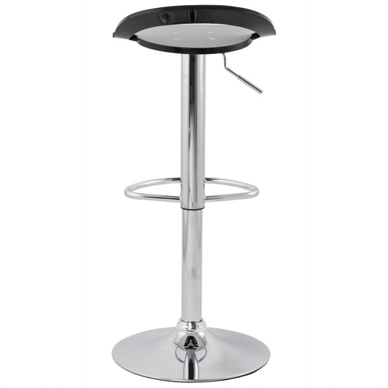 MOSELLE stool round design in ABS (high-strength polymer) and chrome metal (black) - image 16113