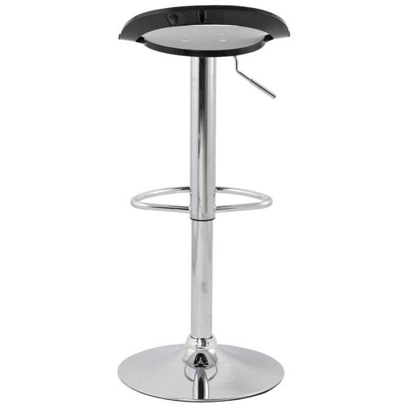 Tabouret MOSELLE rond design en ABS (polymère à haute résistance) et métal chromé (noir) - image 16113