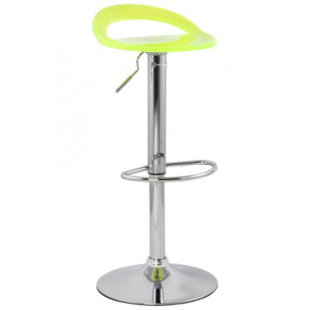 MOSELLE stool round design in ABS (high-strength polymer) and chrome metal (fluo)