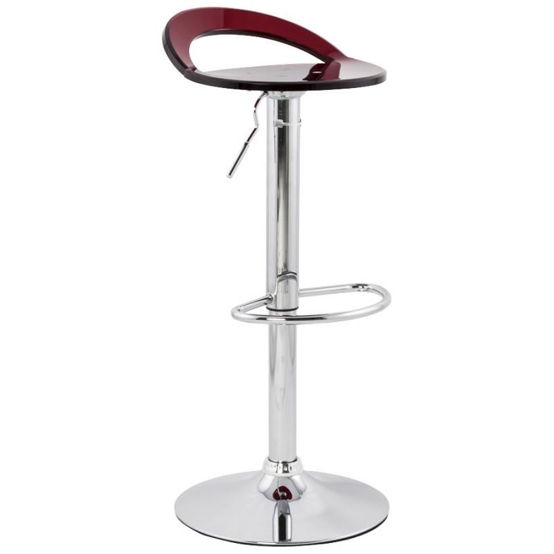 Tabouret MOSELLE rond design en ABS (polymère à haute résistance) et métal chromé (rouge) - image 16130