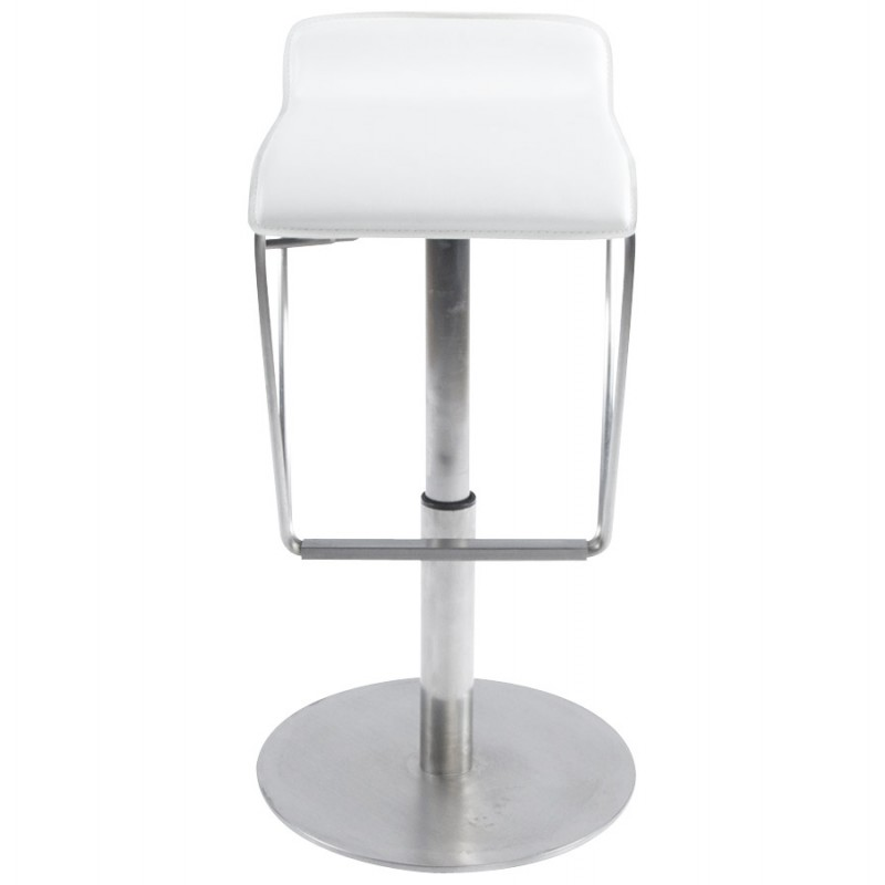 Tabouret de bar ARIEGE rotatif et réglable (blanc) - image 16256