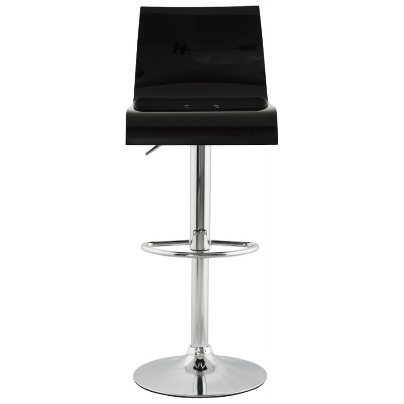 SARTHE Stool in ABS (high-strength polymer) and chrome metal (black) - image 16266