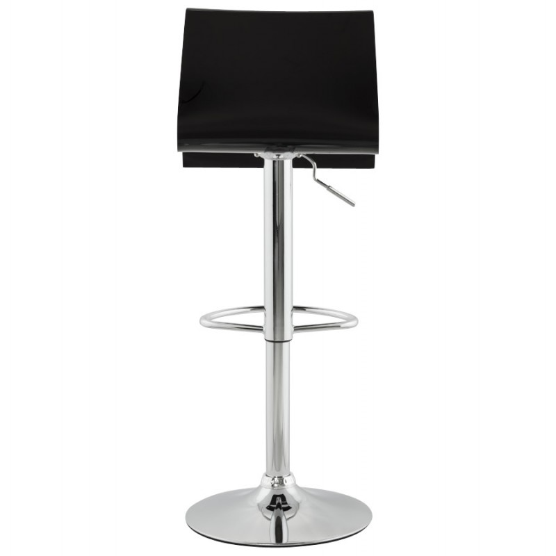 SARTHE Stool in ABS (high-strength polymer) and chrome metal (black) - image 16270