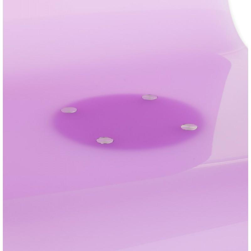 Tabouret SARTHE en ABS (polymère à haute résistance) et métal chromé (rose) - image 16284