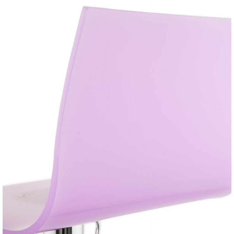 Tabouret SARTHE en ABS (polymère à haute résistance) et métal chromé (rose) - image 16285