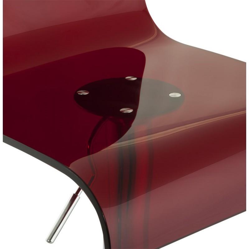 Tabouret SARTHE en ABS (polymère à haute résistance) et métal chromé (rouge) - image 16297