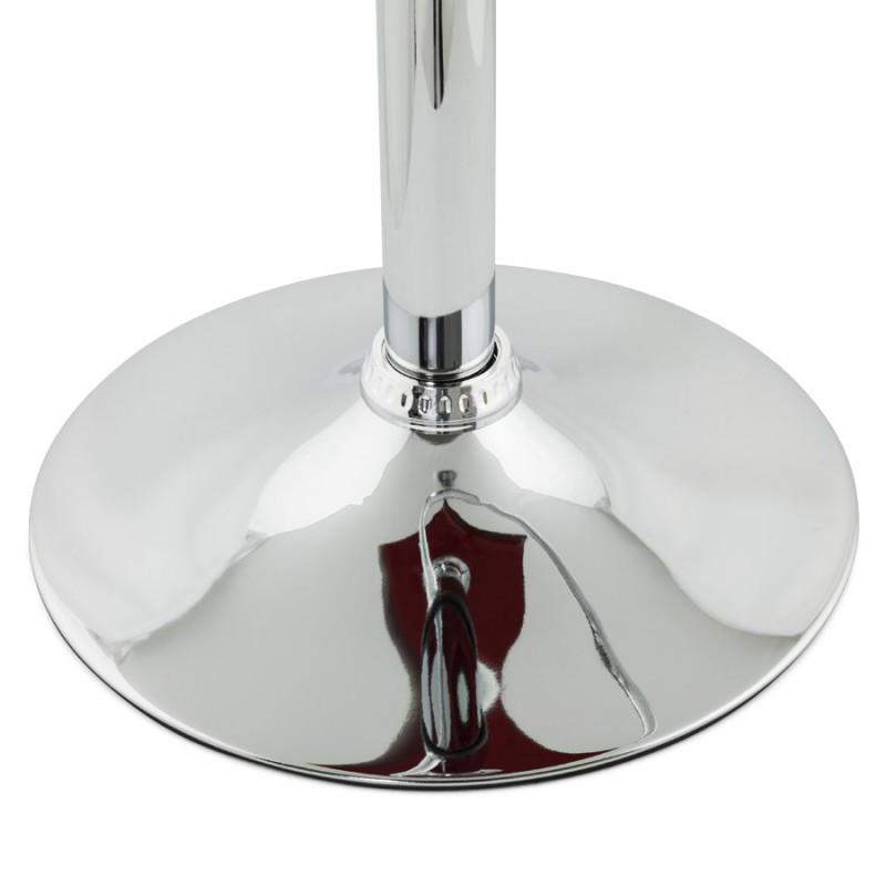 Tabouret SARTHE en ABS (polymère à haute résistance) et métal chromé (rouge) - image 16301