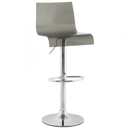 SARTHE Stool in ABS (high-strength polymer) and chrome metal (smoked)