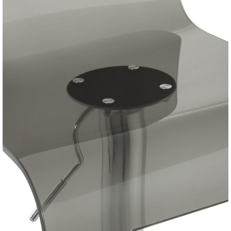 Tabouret SARTHE en ABS (polymère à haute résistance) et métal chromé (fumé) - image 16309
