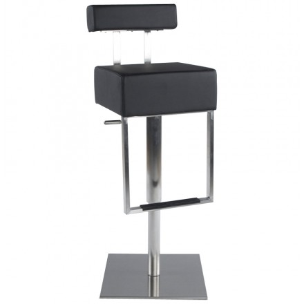 Modern rotating and adjustable bar stool GARDON (black)