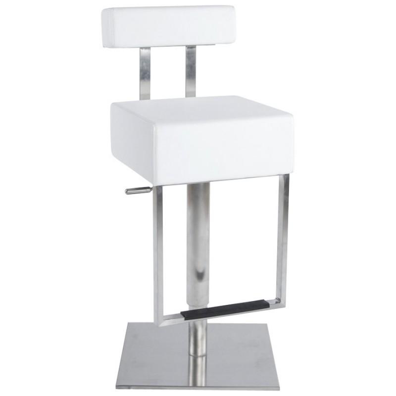 Tabouret de bar moderne rotatif et réglable GARDON (blanc) - image 16366