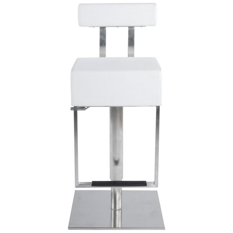 Tabouret de bar moderne rotatif et réglable GARDON (blanc) - image 16367