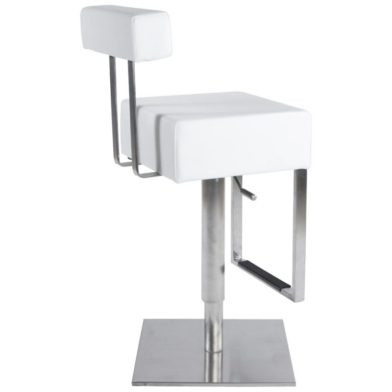 Tabouret de bar moderne rotatif et réglable GARDON (blanc) - image 16369