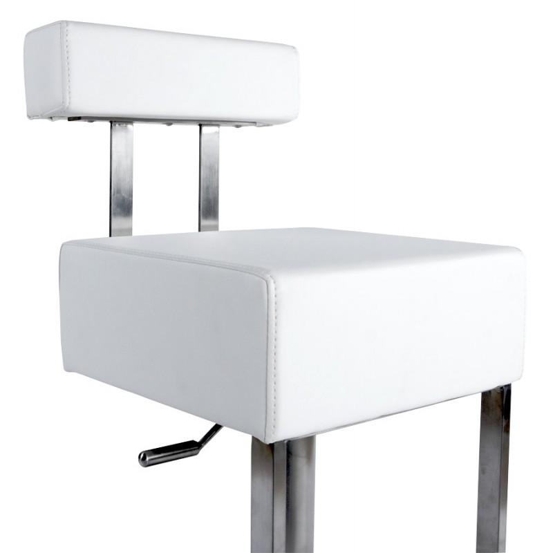 Tabouret de bar moderne rotatif et réglable GARDON (blanc) - image 16371