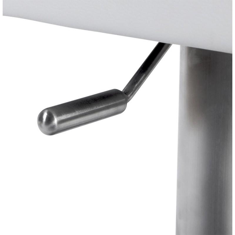 Tabouret de bar moderne rotatif et réglable GARDON (blanc) - image 16374