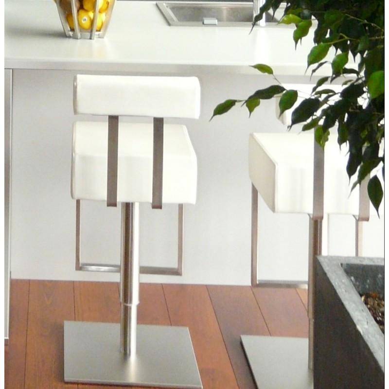 Tabouret de bar moderne rotatif et réglable GARDON (blanc) - image 16377