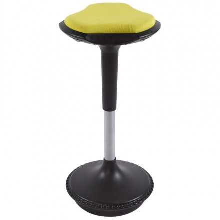Stool VIENNE in resistant fabrics and Polypropylene molded (yellow)