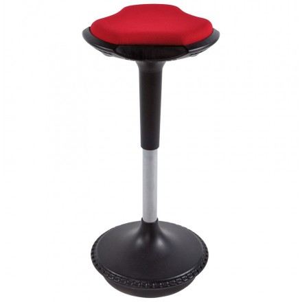 Stool VIENNE in resistant fabrics and molded Polypropylene (red)