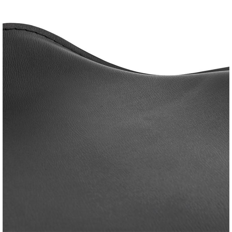 Tabouret de bar design rond ADOUR rotatif et réglable (noir) - image 16412