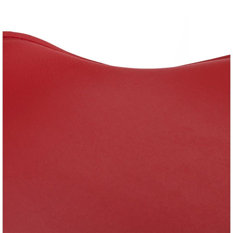 Tabouret de bar design rond ADOUR rotatif et réglable (rouge) - image 16424