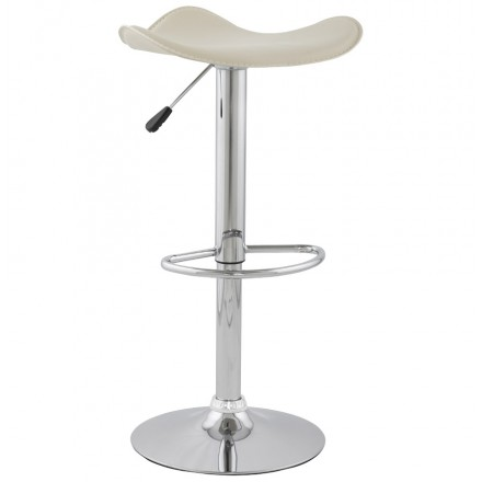 Bar stool round design rotary and adjustable ADOUR (cream)