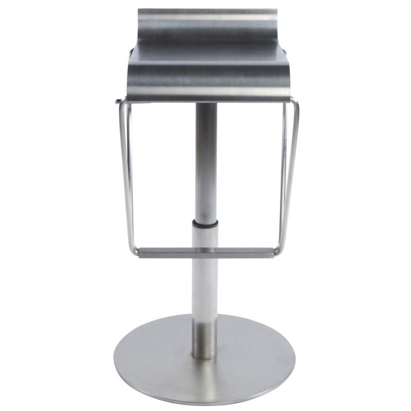 Tabouret design carré MAINE en acier brossé (acier) - image 16455