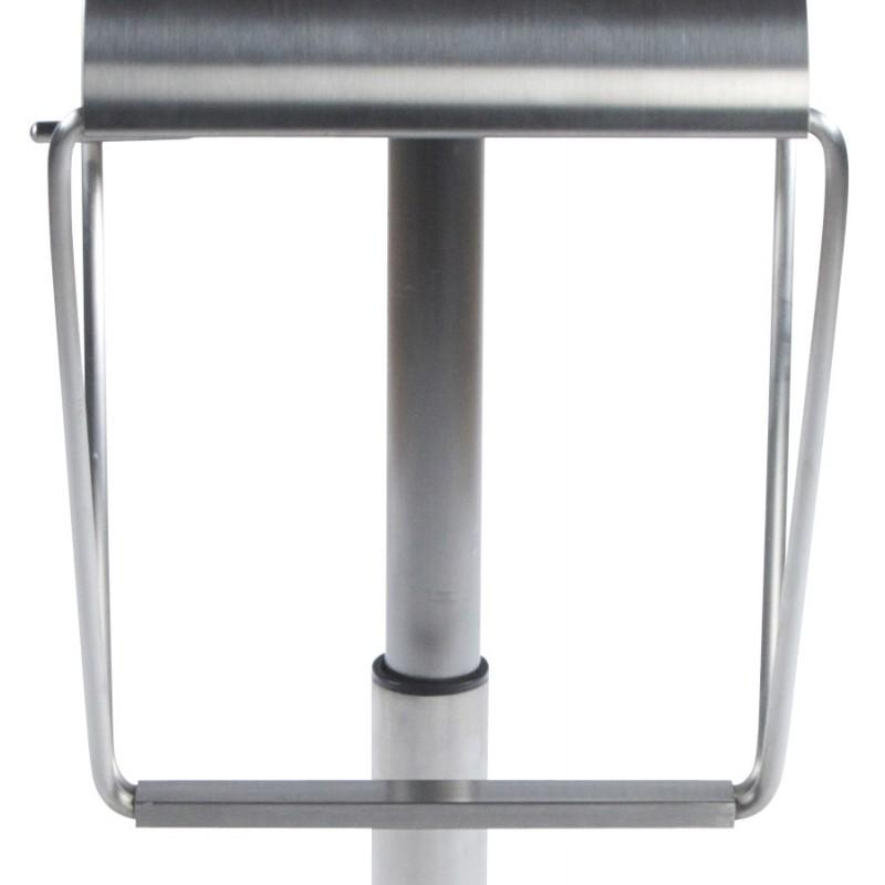 Tabouret design carré MAINE en acier brossé (acier) - image 16457