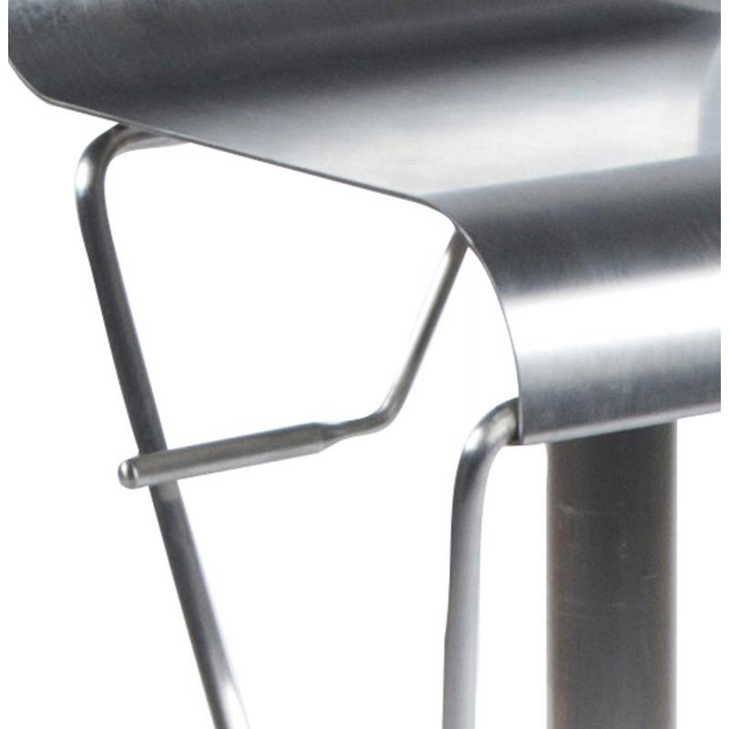 Tabouret design carré MAINE en acier brossé (acier) - image 16460