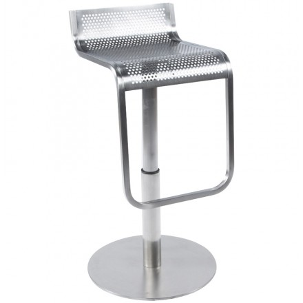 VILAINE design stool in brushed steel (steel)