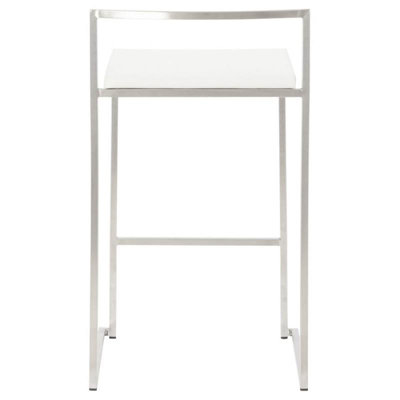 Tabouret design épuré LOIRET mi-hauteur (blanc) - image 16538