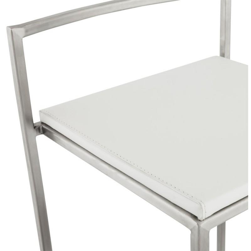 Tabouret design épuré LOIRET mi-hauteur (blanc) - image 16544
