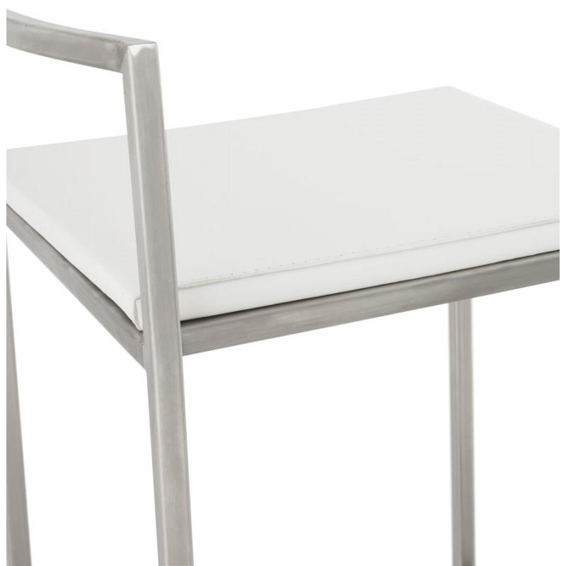 Tabouret design épuré LOIRET mi-hauteur (blanc) - image 16545