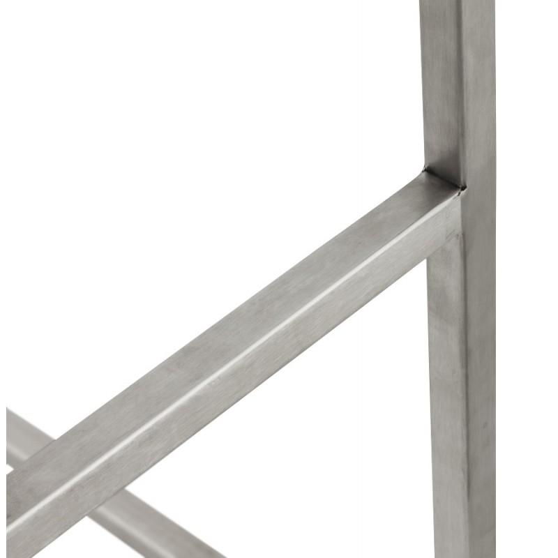 Tabouret design épuré LOIRET mi-hauteur (blanc) - image 16548
