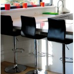 Bar stool MARNE rotary and adjustable (black)