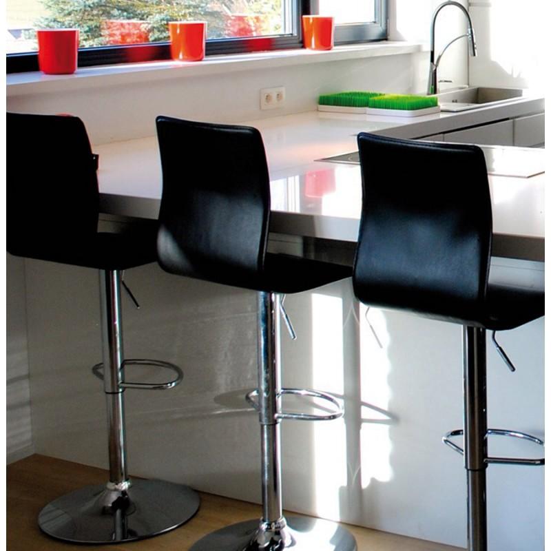 Tabouret de bar MARNE rotatif et réglable (noir) - image 16564