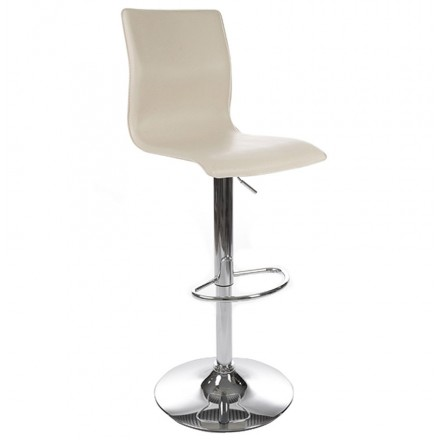 Bar stool MARNE rotary and adjustable (cream)