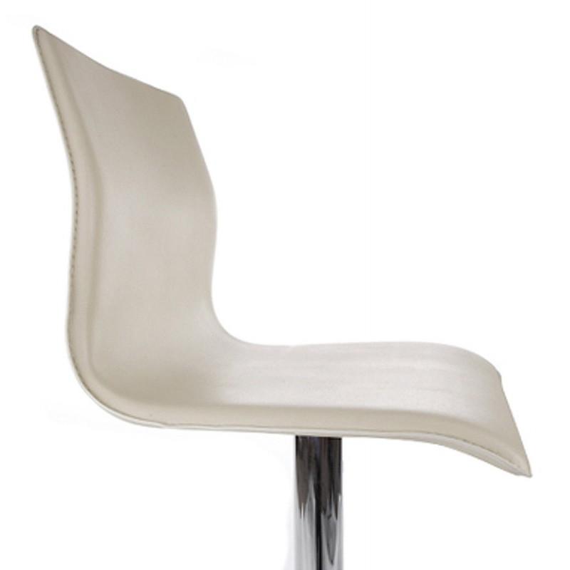 Tabouret de bar MARNE rotatif et réglable (crème) - image 16570