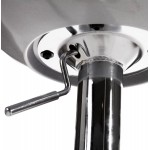 ALLIER Stool round in ABS (high-strength polymer) and chrome metal (Silver)