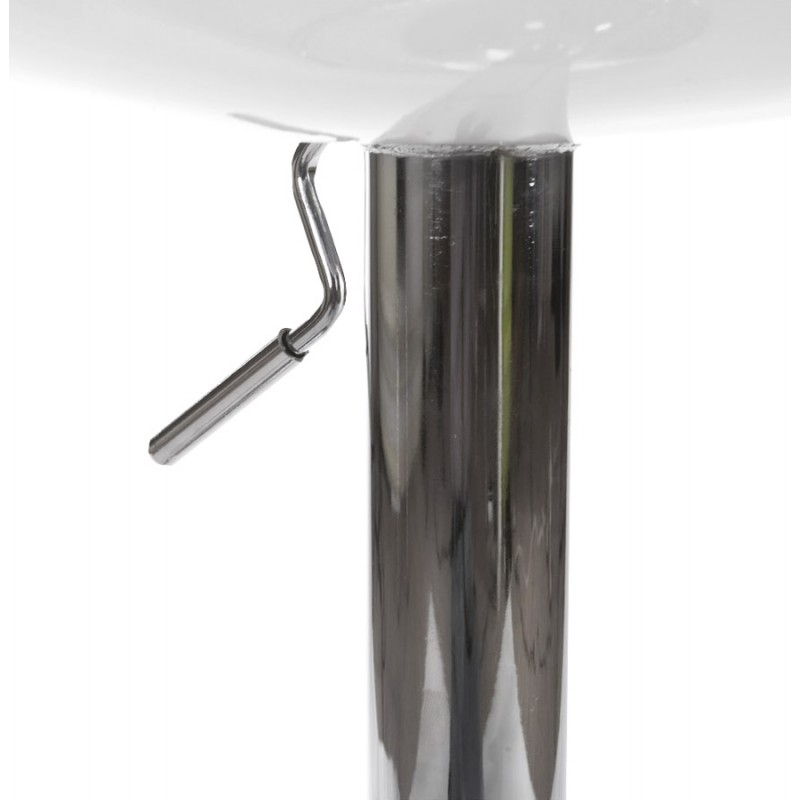 ALLIER Stool round in ABS (high-strength polymer) and chrome metal (white) - image 16615