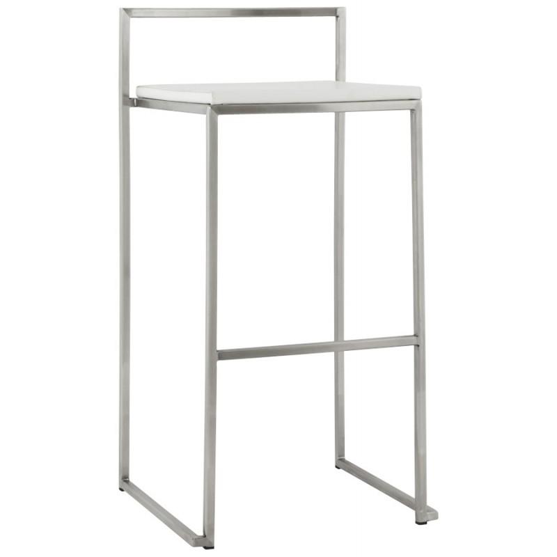 Bar stool design square DORDOE (white)